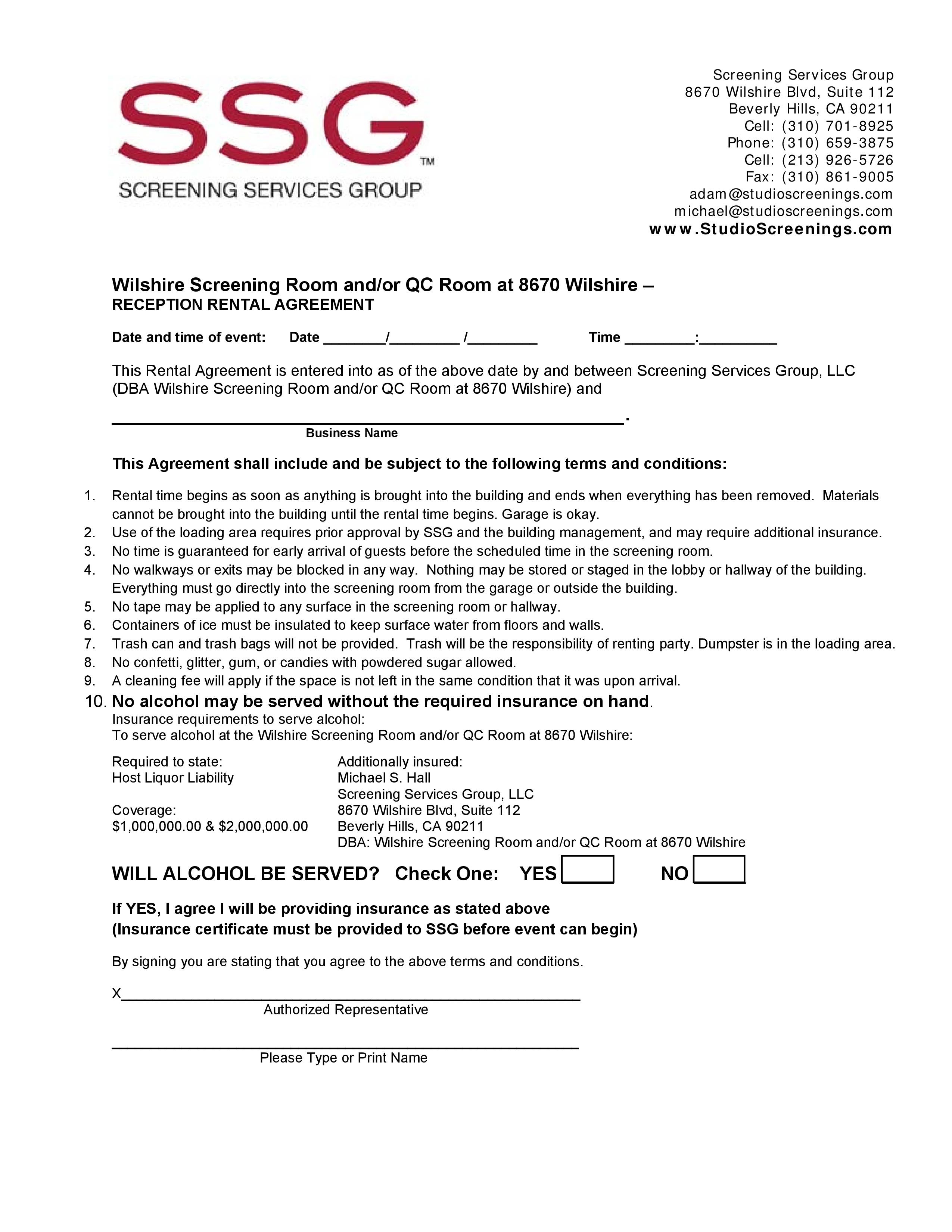 Art Gallery Rental Agreement