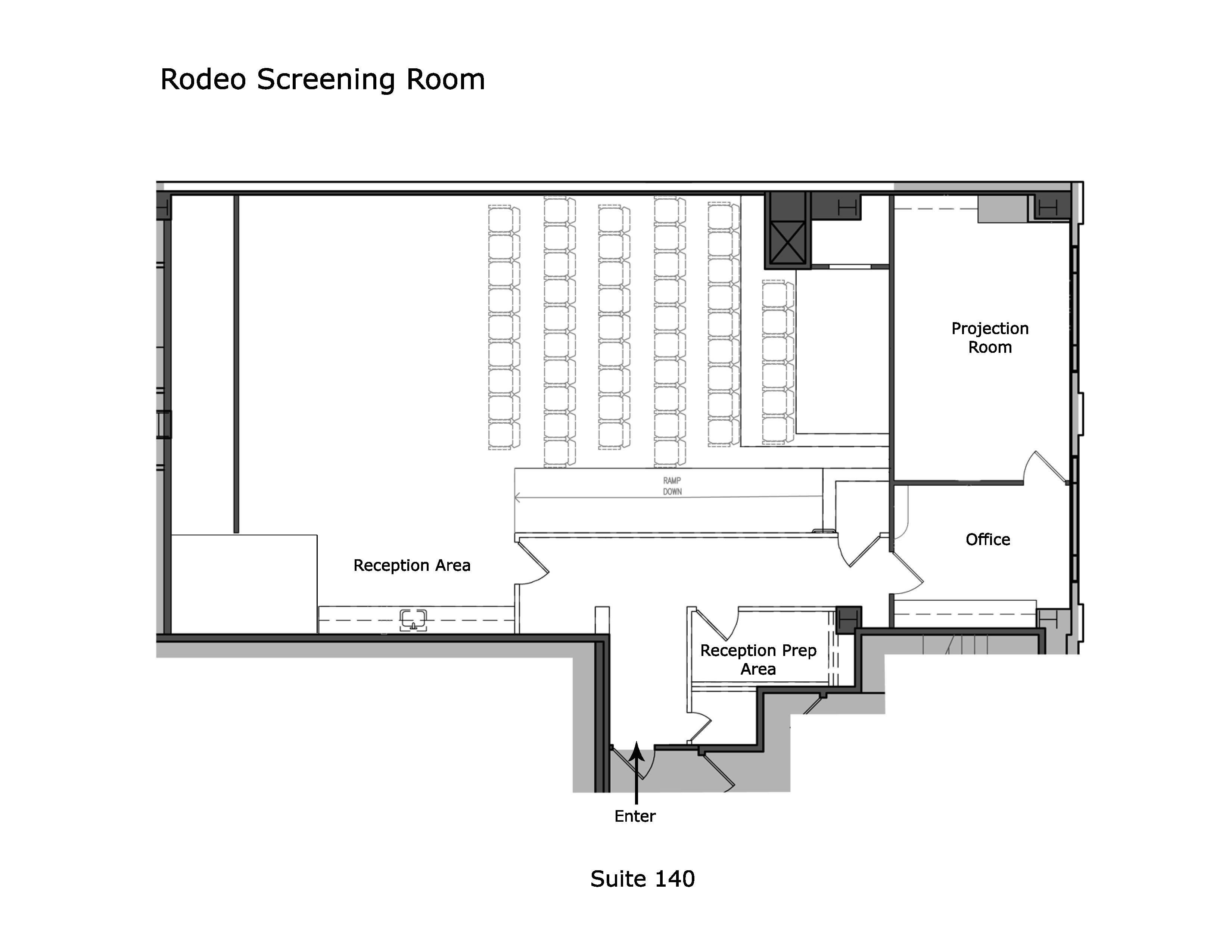 Rodeo Screening Room Floor Plan
