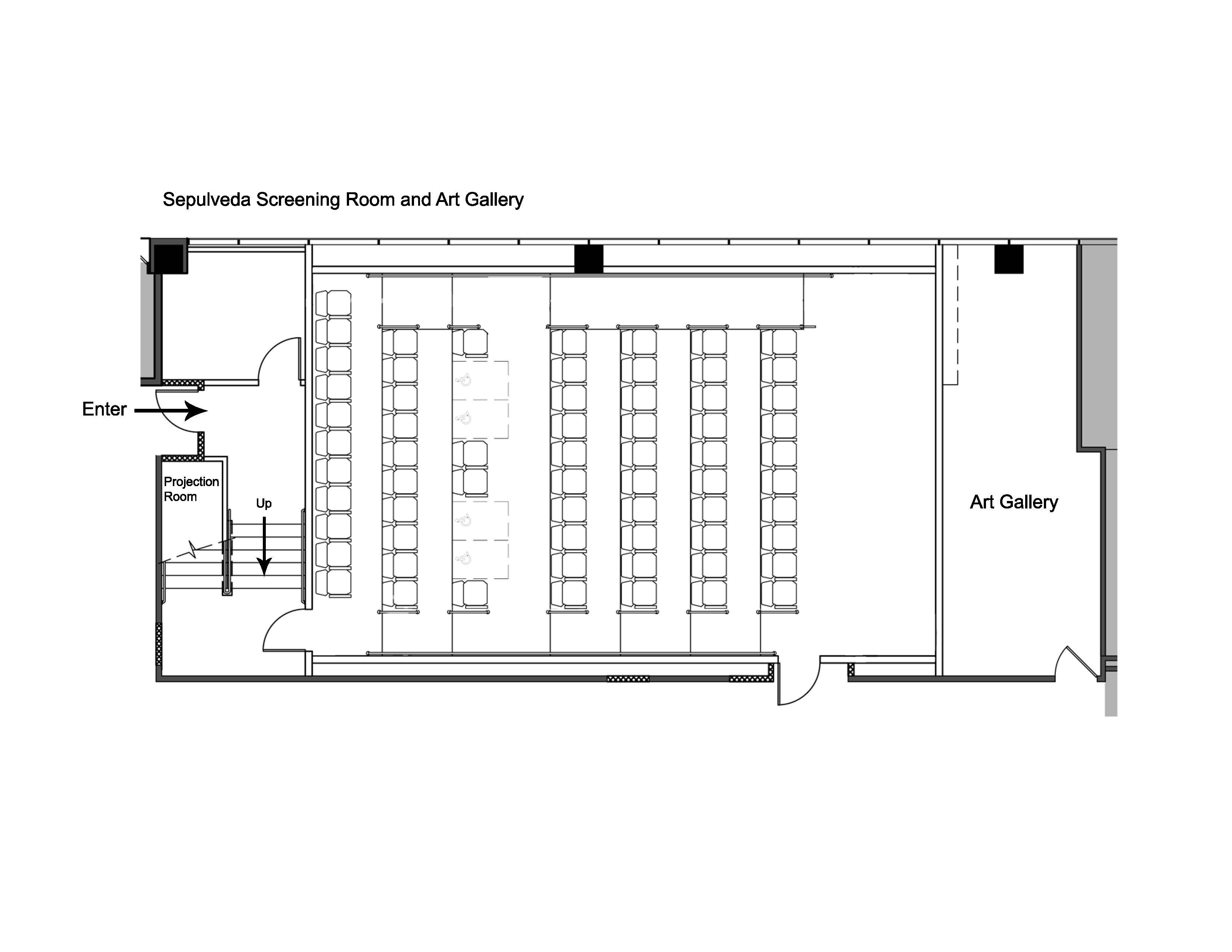 sepulveda screening room floor plan