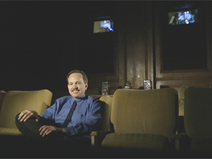 Michael S. Hall in the Wilshire Screening Room